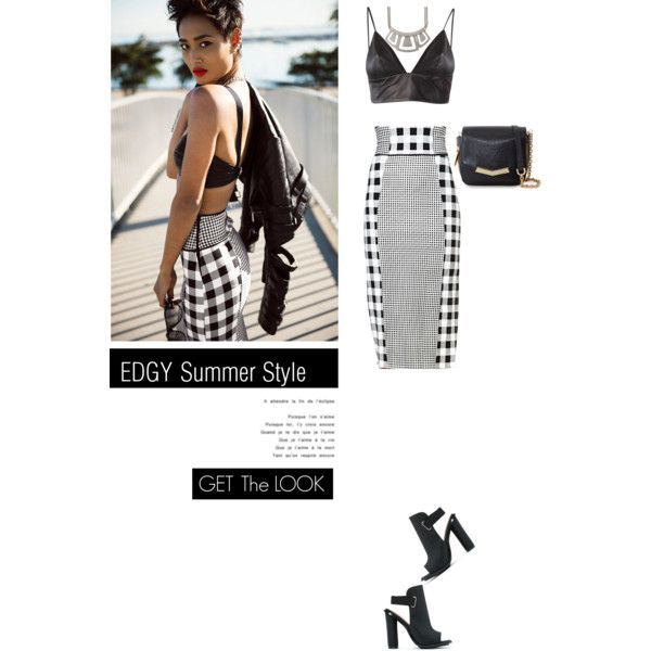 """""""Edgy Summer Style, Get The Look With @botkier And #BrookeMiniMessesngerHandbag."""" by irishrose1 on Polyvore"""