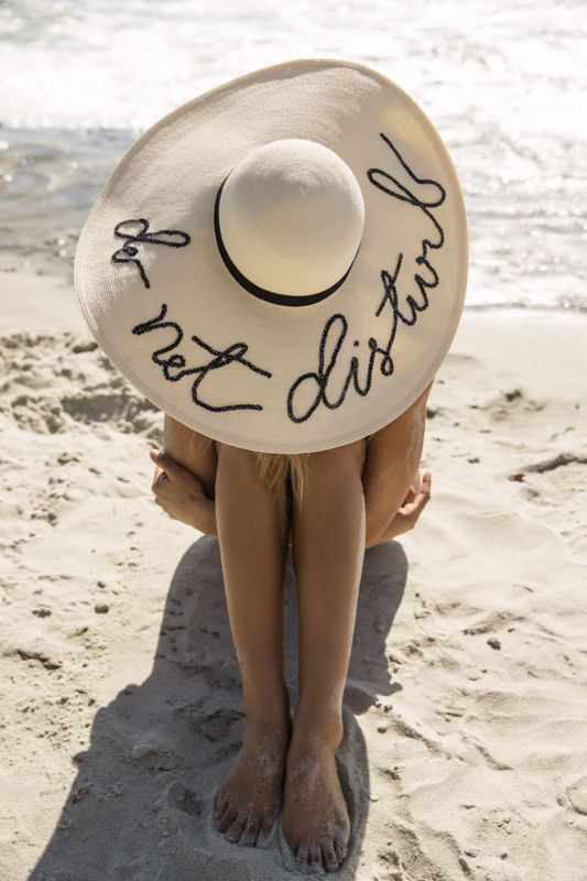 Friday Vibes // Do Not Disturb Hat on the beach