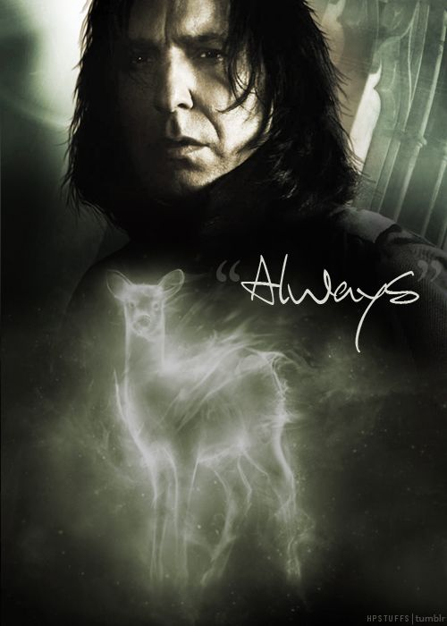 """""""After all this time?""""  """"Always."""" Awwwwwwwwww, poor Snape :("""