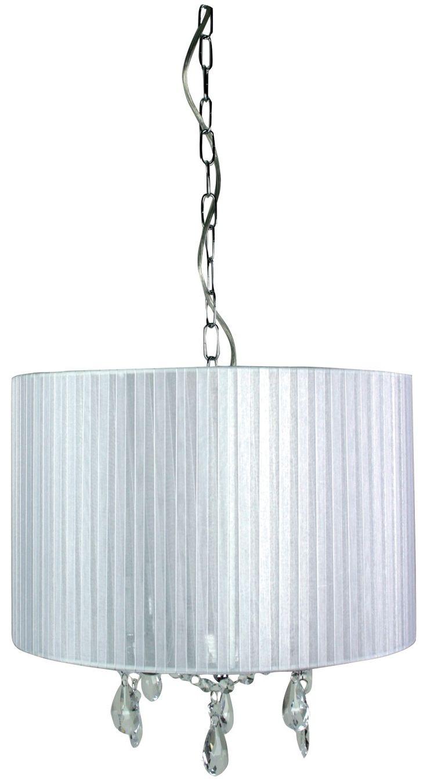 Chandelier Pendant 4 Lights Chrome Organza Ribbon B22 Regis Oriel Lighting