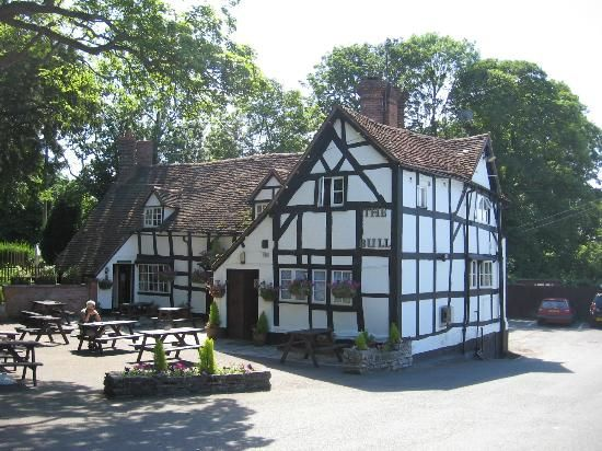 The Old Bull Inn at Inkberrow in Worcestershire, England. In 1582 William Shakespeare stayed here on his way to Worcester to collect his marriage certificate. The inn is also the model for the Ambridge village pub in The Archers, BBC Radio 4's soap opera