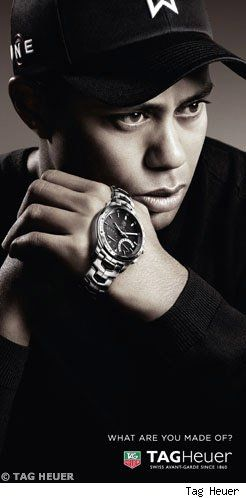 Tiger Woods on TAG Heuer Ad.    Ps. Tiger Woods is no longer endorsed by TAG Heuer