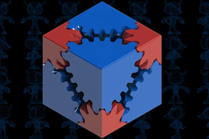 Cube Gears - SketchUp,Parasolid,SOLIDWORKS,Autodesk 3ds Max,OBJ,STL,STEP / IGES - 3D CAD model - GrabCAD