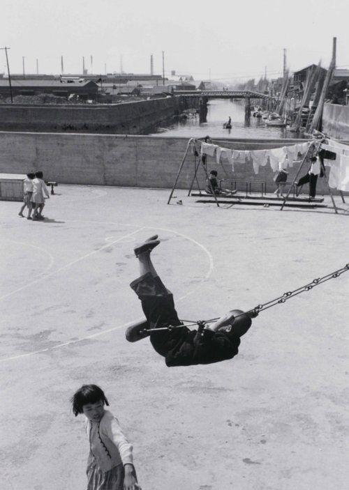 "Shomei Tomatsu. ""Shipboard Elementary School (1), Fukagawa, Tokyo"" from ""Nippon Roots,"" 1956"