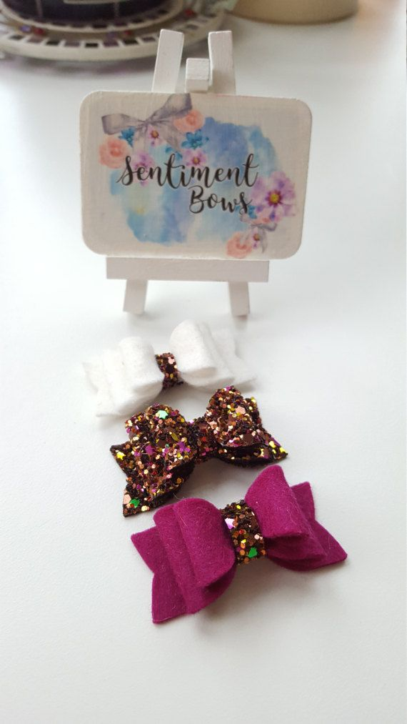 Check out this item in my Etsy shop https://www.etsy.com/uk/listing/499399700/bow-set-glitter-bow-set-tiny-bows-set-of