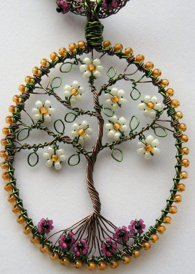 Be enchanted by these unique wire-wrapped pendants by Louise Goodchild. Her creations are mostly wired into (no pun intended) trees.   Louis...