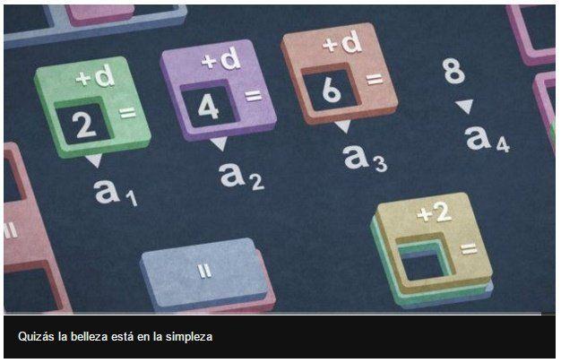 Una simple progresión aritmética   Una progresión aritmética es simplemente una secuencia de números separados por la misma cantidad.