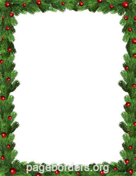printable green christmas border  use the border in