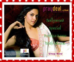 Bollywood Replica Sarees - Exclusively on PrayDeal.Com