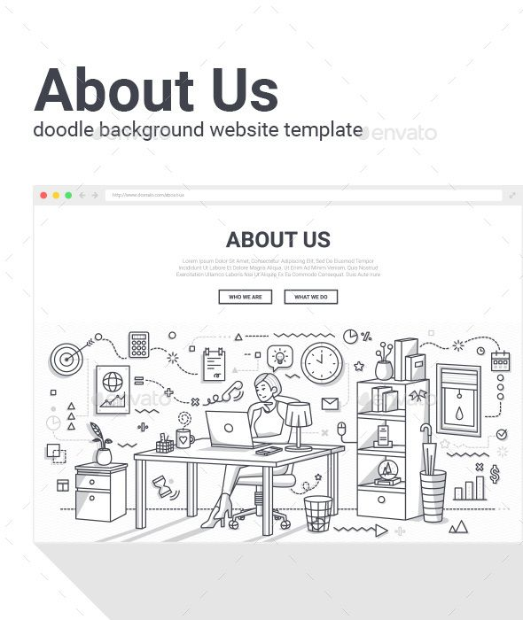 About Us Page Doodle Background Doodles Background Templates