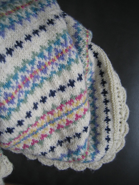 Fair Isle Baby Blanket by Apples-and-Pears, via Flickr