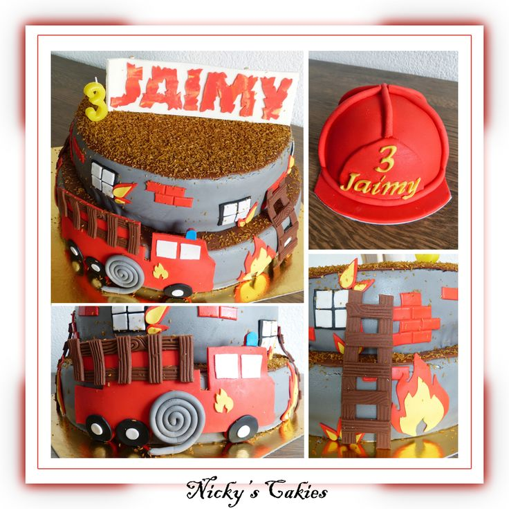 Brandweer taart en brandweerhelm meptaart #brandweer #brandweerauto #firetruck #fire #house #helmet #taart #cake #meptaart