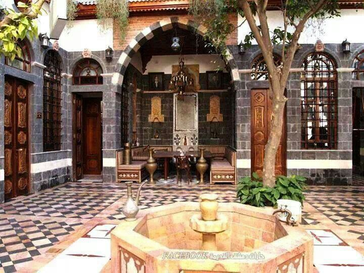 old damascus house houses courtyard pinterest