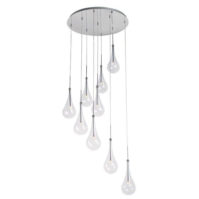 Larmes Led Round Suspension By Et2 E20515 18pc Et2 Chrome Pendant Lighting Led Pendant Lights