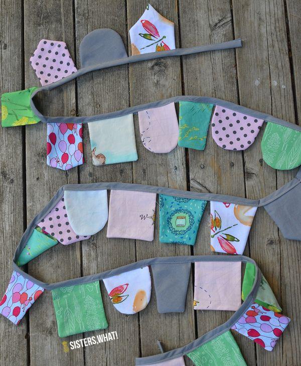 DIY Scap Fabric Banner