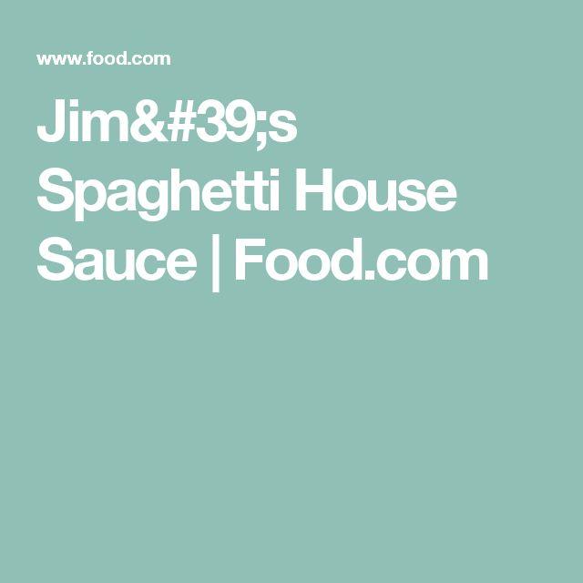 Jim's Spaghetti House Sauce   Food.com