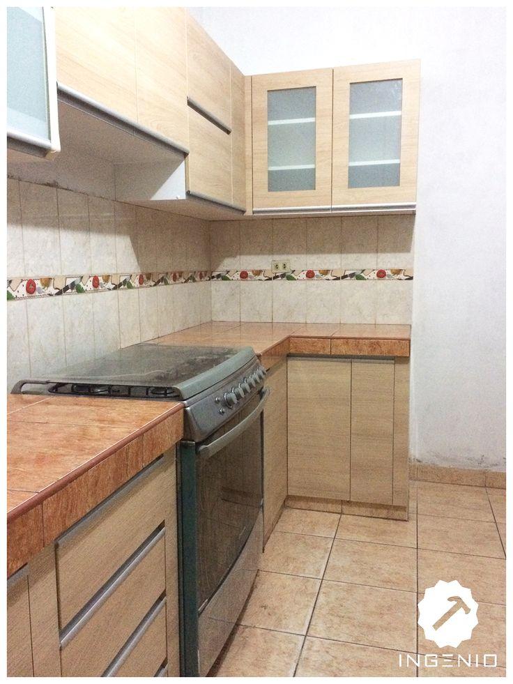 8 best mueble cocina de melamina color carvalo images on for Muebles cocina melamina