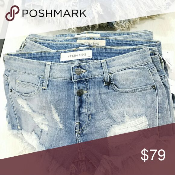 Brand new! Hidden Jeans cutoff shorts Light wash multiple sizes available Hidden jeans Shorts