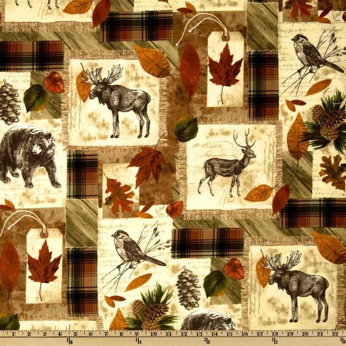 13 best Jeff's Camping Quilt images on Pinterest | Flannels, Fat ... : wildlife quilt fabric - Adamdwight.com
