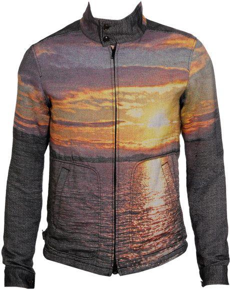 Love this: Sunset-print Woven Cotton Blouson @Lyst
