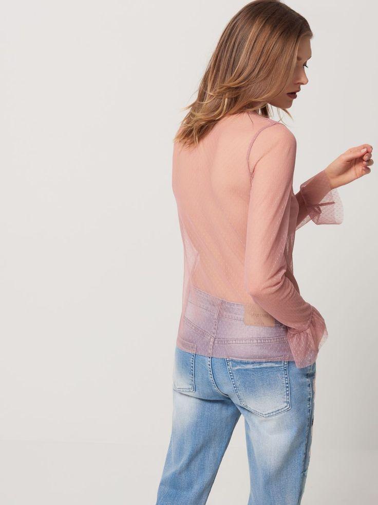 Bluzka z tiulu plumeti GOLD LABEL, MOHITO, RF245-39X
