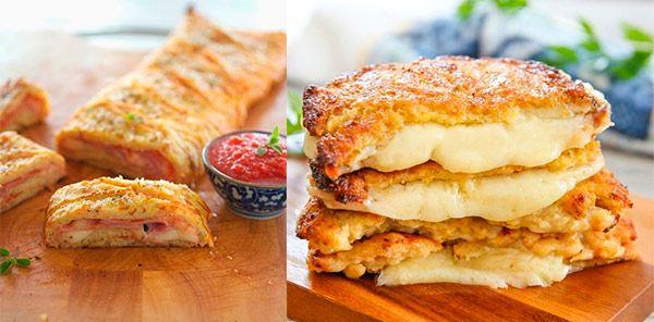 """Recetas de coliflor para sorprender a toda la familia. Arrollado de coliflor y """"san jacobos"""" de coliflor y queso. Originales recetas de coliflor"""