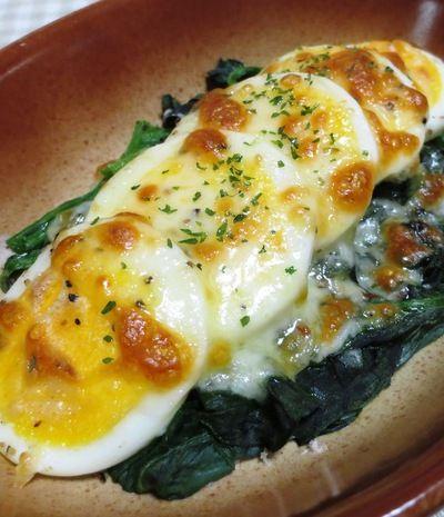 ほうれん草とゆで卵のチーズ焼き by syu♪さん   レシピブログ - 料理 ...