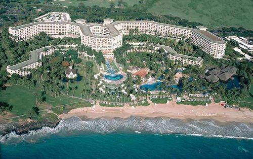 """Grand Wailea in Maui, Hawaii  """"The Grand Wailea's pool area is so large, it has its own name, the Wailea Canyon Activity Pool.  The Activity Pool is actually nine pools, seven waterslides (two of them are both long and fast for the thrill-seekers in your family), a white-water rapids slide (a short, wide, fast ride), a spectacular array of man-made caves and grottos (1 nearly hiding a large hot tub and one housing a swim-up bar"""" - travelbylori.com"""