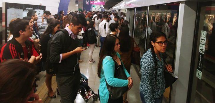 Línea 6 del Metro sufrió su primera interrupción de servicio en horario punta - BioBioChile