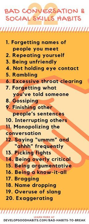 Bad Social Skills Conversation And Relationship Making Habits If You Want To Achieve A Measure Of Success In Life It Is Often Important Be Able