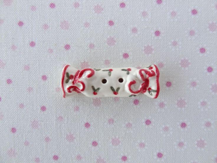 Red Bon Bon  www.cherabellabuttons.com.au