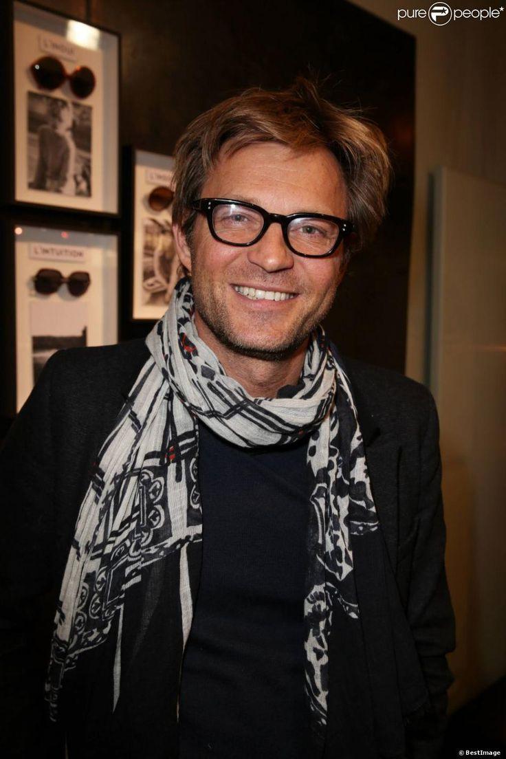 Laurent Delahousse, Exclusif - Présentation de la première collection de lunettes Swildens dans l'une des boutiques de la marque située rue de Poitou à Paris, le 28 mars 2013.