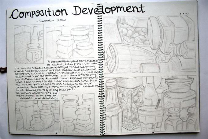 Still life composition development
