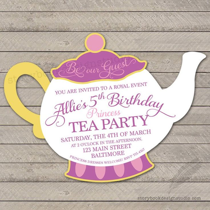 Baby Shower Invitations Tea Party as luxury invitation design