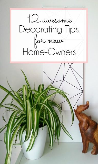 decorating tips for all new homeowners www.makedoanddiy.com