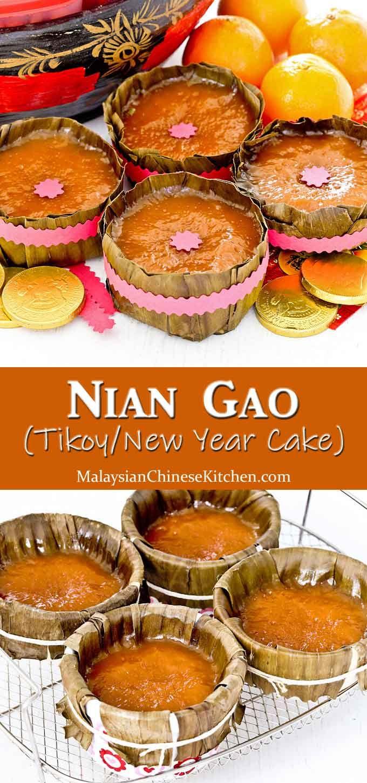 Nian Gao Tikoy New Year Cake Recipe New Year S Cake Sweet Soup Asian Snacks