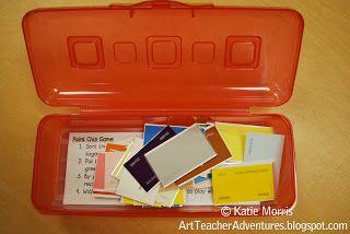 Adventures of an Art Teacher: Paint Chip Game
