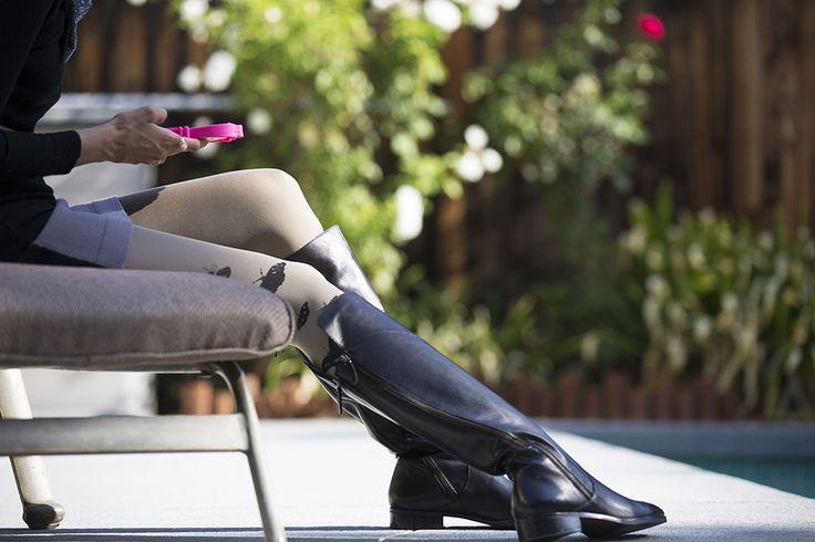 Stivali Cinti in pelle nera con zip trasversale - Cinti leather boots - AI 2014/15
