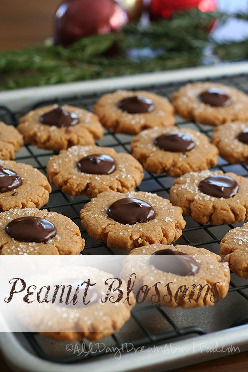 My Faves! Peanut Blossoms - Low Carb and Gluten-Free. I'll make them with all Almond Flour!