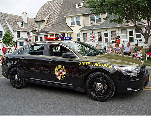 Maryland State Police State Trooper Ford Interceptor Police Cars Ford Police State Trooper