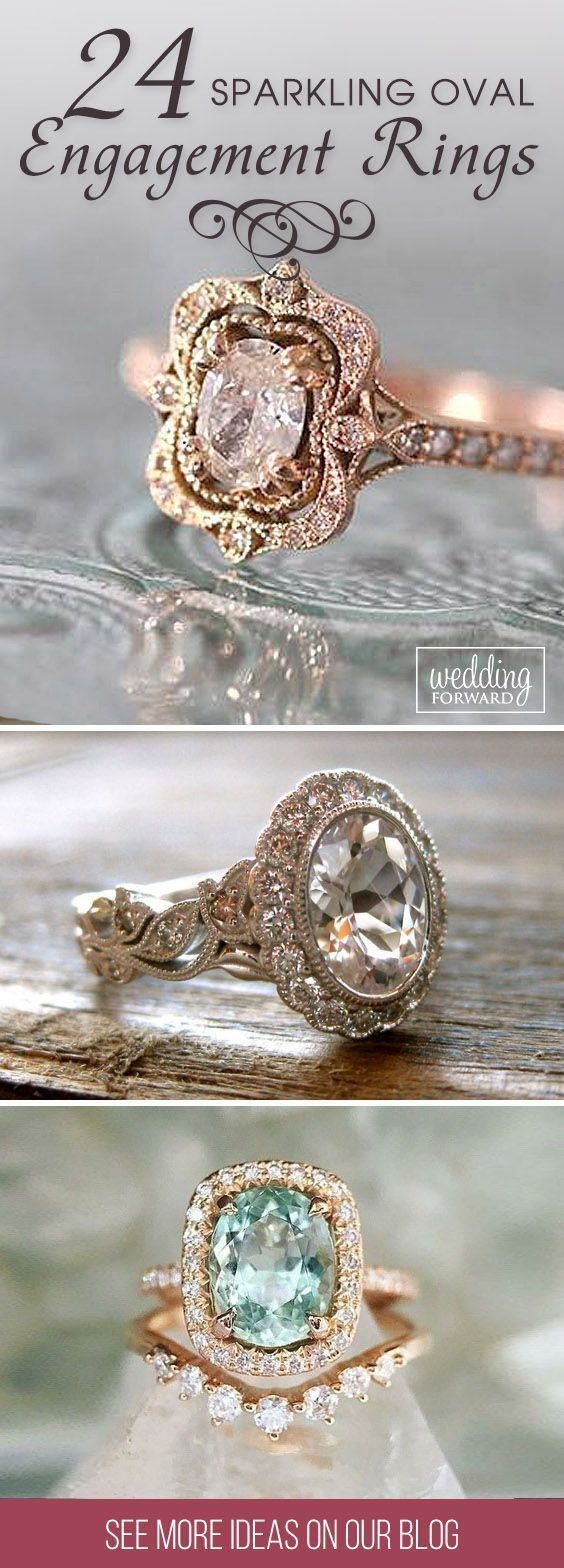 24 Oval Engagement Rings As A Way To Get More Sparkle ❤ Oval engagement rings are elegant, modern and at the time for a full-on classic look. Also small oval diamonds look bigger than it actually is. See more: http://www.weddingforward.com/oval-engagement-rings/ #wedding #engagement #rings #oval