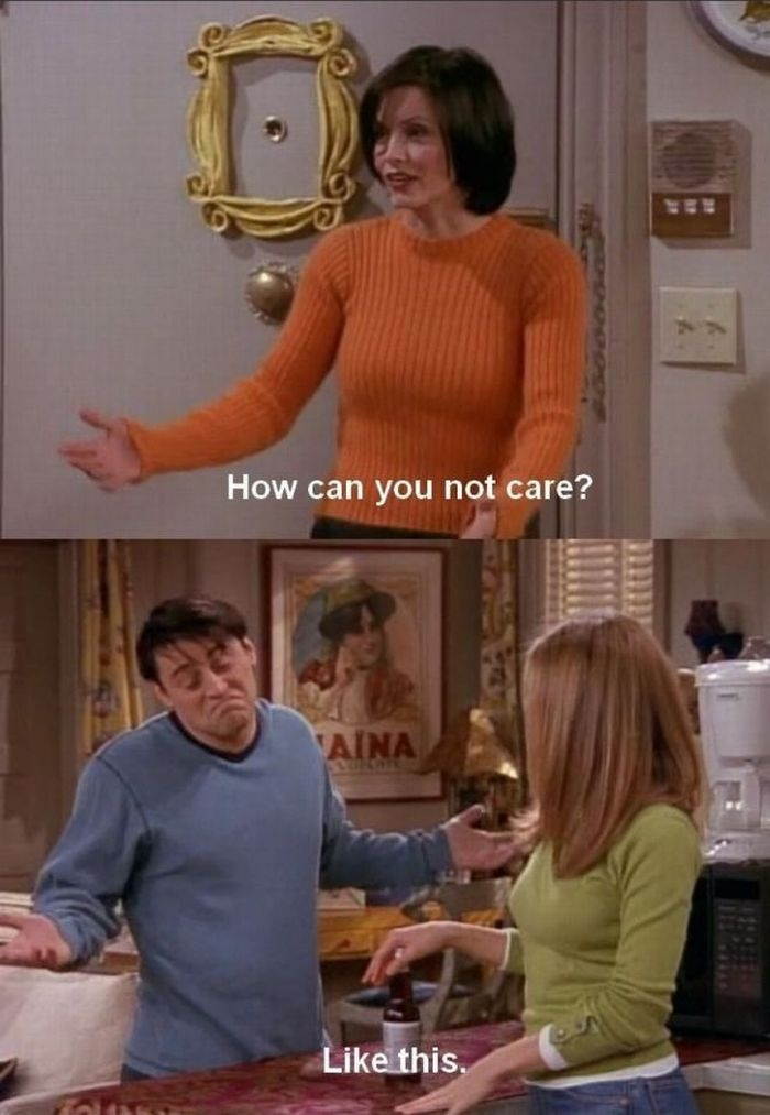 me about law, politics, justice, gymnastics, etc.: how can you not care?!?!  friends