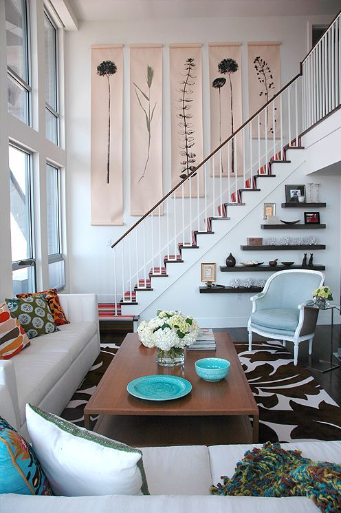 Foyer And Stairs, Designer: Stephanie Rossi