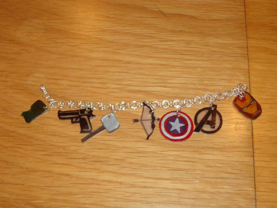 #Avengers charm bracelet     #Marvel