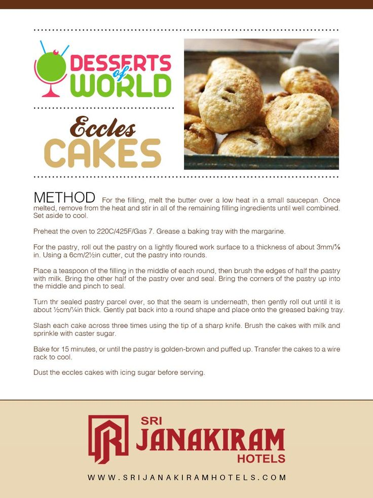 Eccles Cakes - The method of Preparing sweet, crisp and puffy pastry ECCLES CAKES.