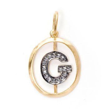 h alphabet in heart  Annoushka Mythology Alphabet G Pendant