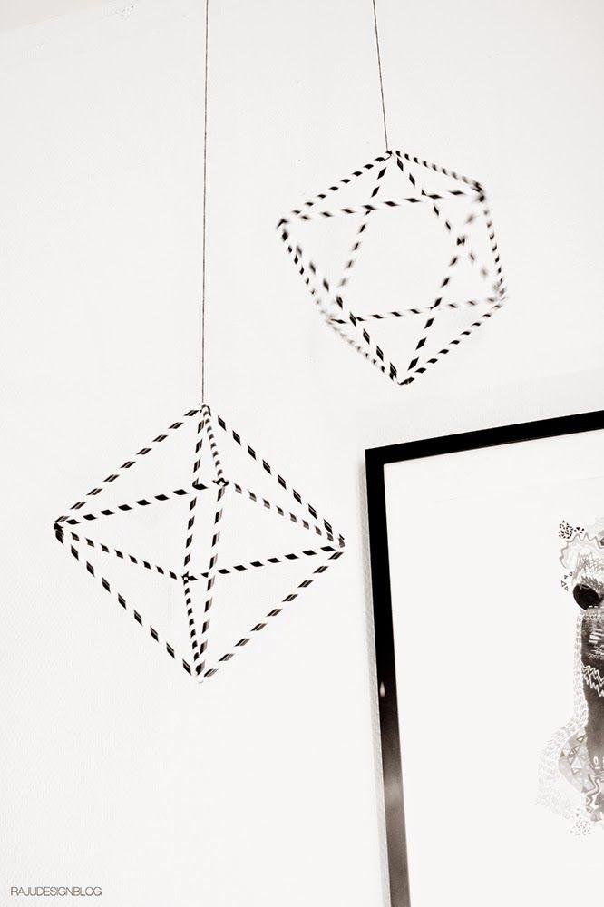DIY Christmas papers straw pedants by RAJU Design blog