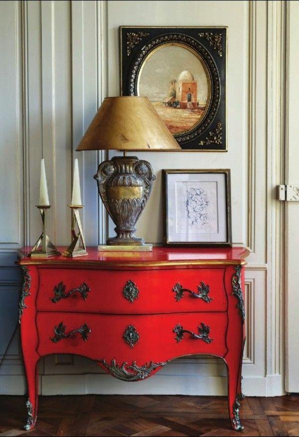 Les 25 meilleures id es concernant commode rouge sur for Decaper meuble peint