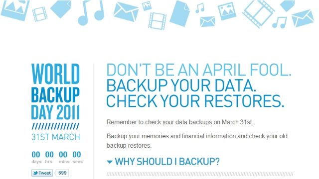 World Backup Day is March 31st: Here's How to Avoid Inevitable Disasters