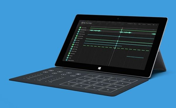 Microsoft Surface 2 Creative Music Studio